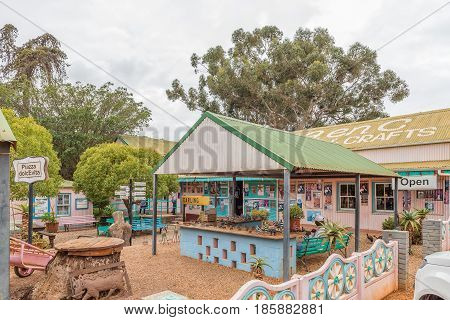 DARLING SOUTH AFRICA - MARCH 31 2017: A shop at Evita se Perron in Darling a town in the Swartland area of the Western Cape Province