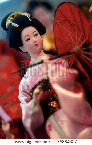 Chinese Doll Wearing Traditional Chinese Clothing