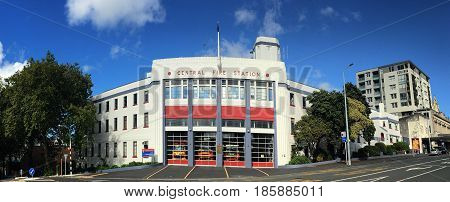Auckland City Fire Station In Auckland New Zealand.