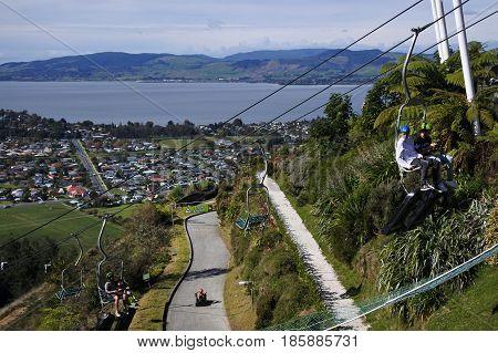 Skyline Rotorua Luge New Zealand