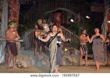 Maori People Village