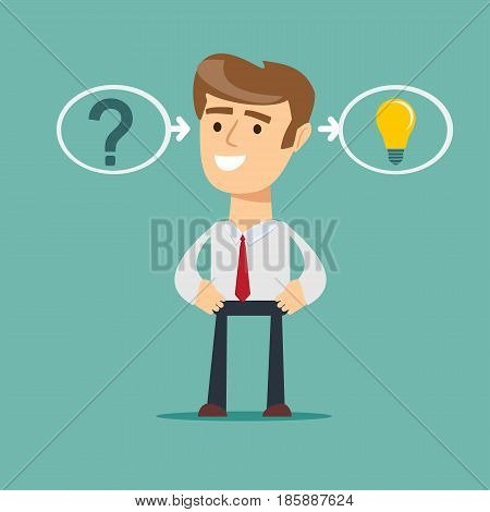 thinking or problem solving business concept. the process of finding a solution.
