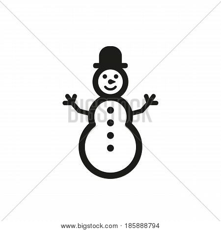 Snowman icon. New year and xmas, christmas, winter symbol. Flat design. Stock - Vector illustration