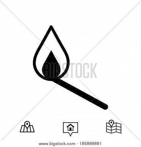 match icon, vector illustration. Flat design style
