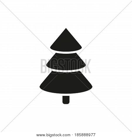 Christmas tree icon. New year and xmas, christmas, winter symbol. Flat design. Stock - Vector illustration