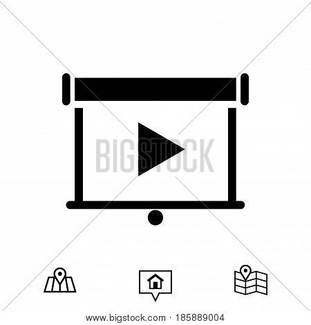 projector icon stock vector illustration flat design