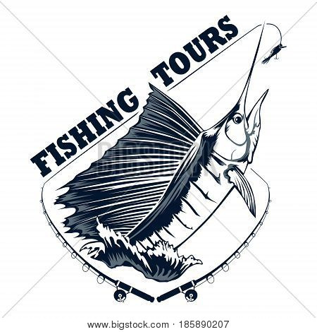 Fishing Tours Logo Blue