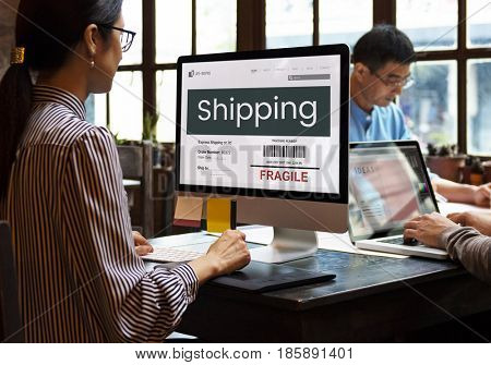 Shipping freight cargo care fragile