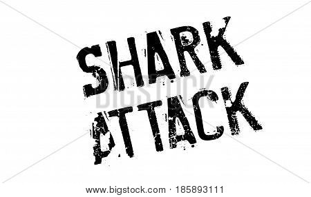 Shark Attack rubber stamp. Grunge design with dust scratches. Effects can be easily removed for a clean, crisp look. Color is easily changed.