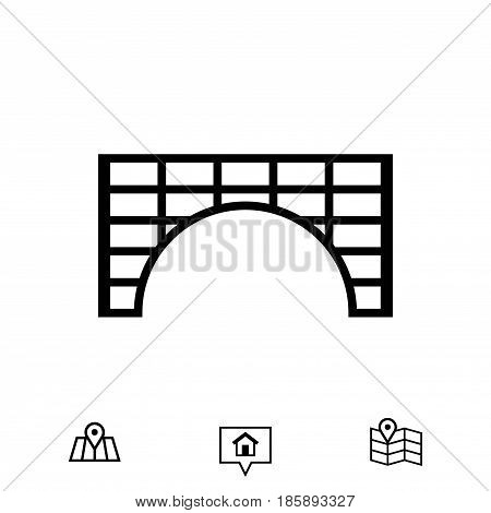 tunnel icon stock vector illustration flat design