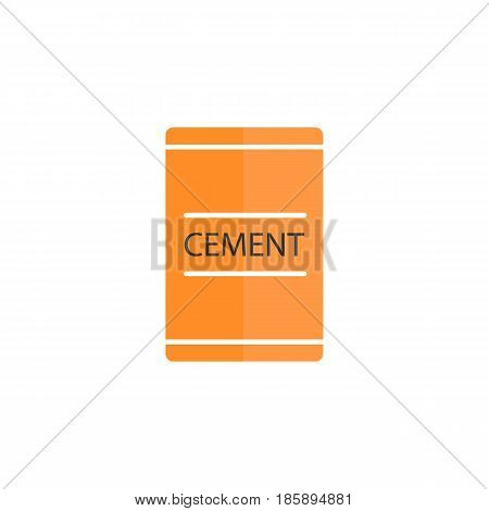 Cement bag flat icon, build repair elements, construction tool, a colorful solid pattern on a white background, eps 10.