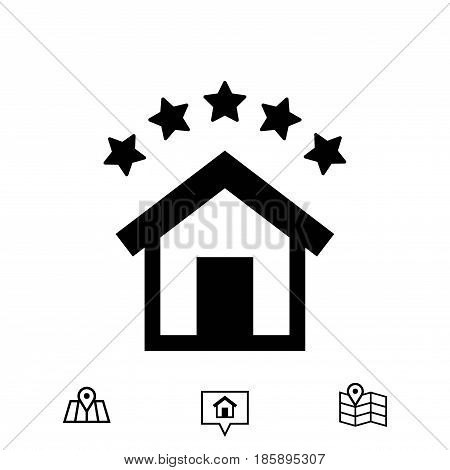 hotel icon stock vector illustration flat design