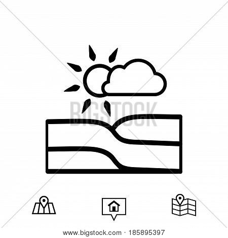 landscape icon stock vector illustration flat design