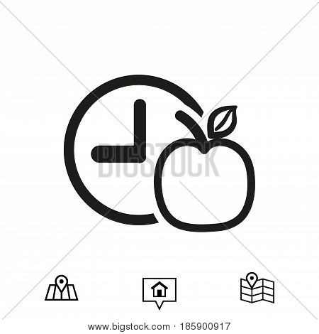 Apple Breakfast icon stock vector illustration flat design