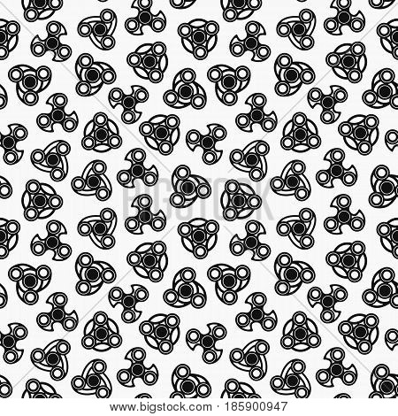 Hand Spinners Seamless pattern. Vector illustration on white background