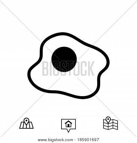 scrambled eggs icon stock vector illustration flat design