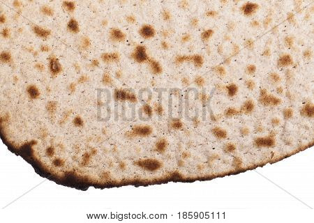 Round Matza Close-up