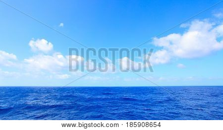 Atlantic Ocean beautiful panoramic seascape, natural photo background