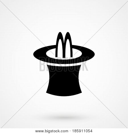 Magic Trick Rabbit In Black Hat Cylinder