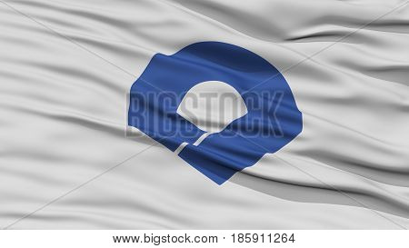 Closeup Wakayama Japan Prefecture Flag, Waving in the Wind, High Resolution