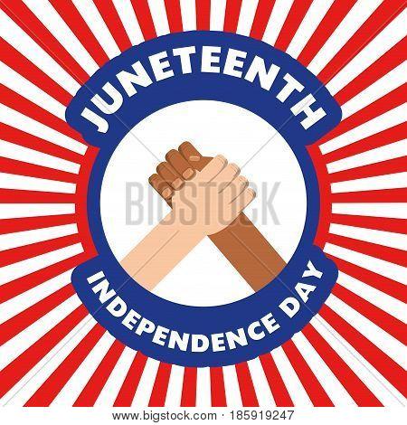 hands together to celebrate independence day, vector illustration