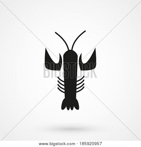 Lobster Icon. Lobster Sign