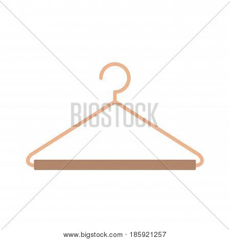 silhouette color with hook closet shirt vector illustration