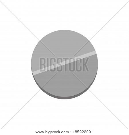 medicine pill icon over white background. vector illustration