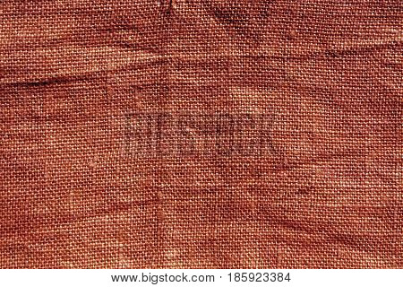 Red Hessian Sack Cloth Texture.