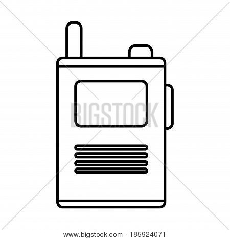 walkie talkie device icon over white background. vector illustration