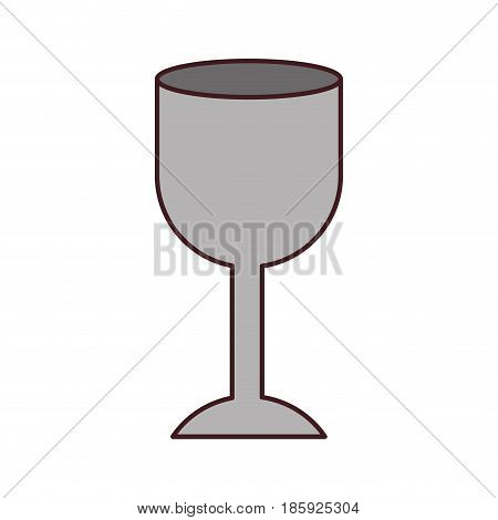 white background with fragile packaging symbol glass and black contour vector illustration