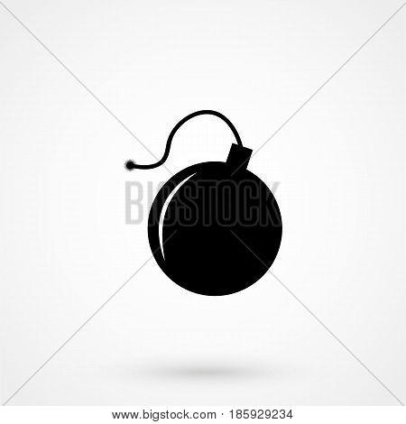 Bomb Icon Flat Design Isolated On Background