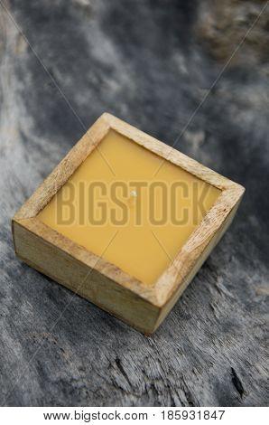 Soap on driftwood wood