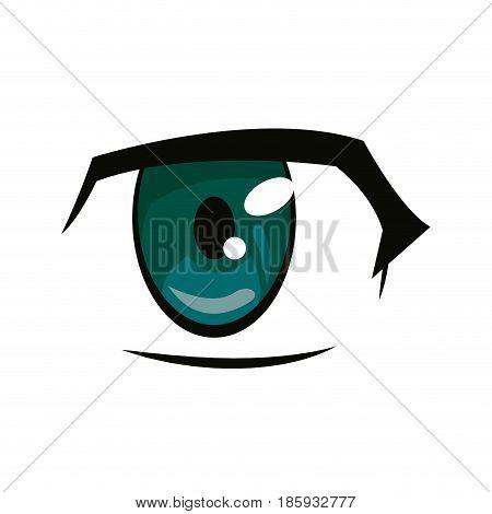 anime eye manga comic expression image vector illustration