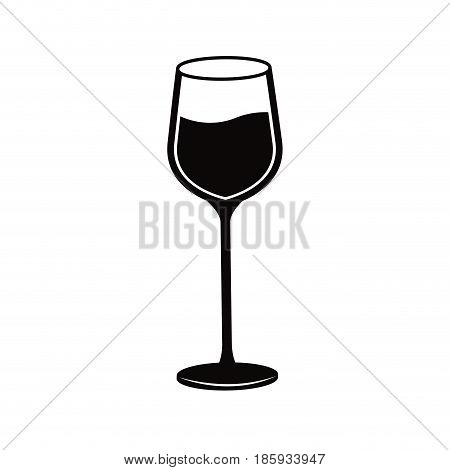 color wine glass cup liquid beberage vector illustration