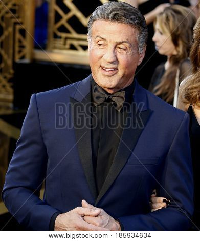 Sylvester Stallone at the 88th Annual Academy Awards held at the Hollywood & Highland Center in Hollywood, USA on February 28, 2016.