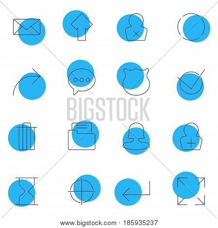 Vector Illustration Of 16 Interface Icons. Editable Pack Of Positive, Dossier, Accsess And Other Elements.