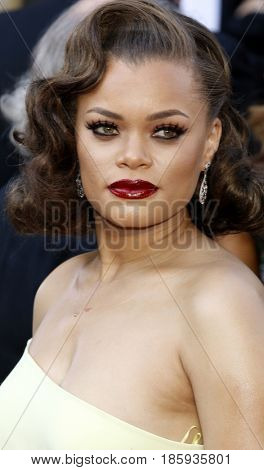 Andra Day at the 88th Annual Academy Awards held at the Hollywood & Highland Center in Hollywood, USA on February 28, 2016.