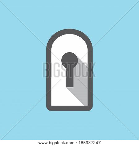Privacy mode icon with security feature and keyhole