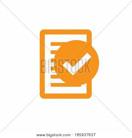 Singletasking or Monotasking icon with checkmark and paper