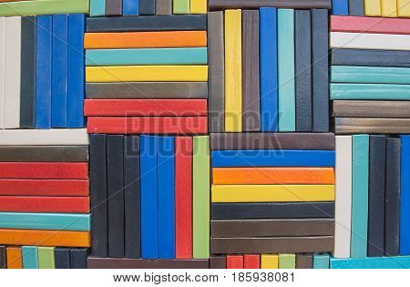 Colorful Brick wall for wallpaper.  surface, texture for background .