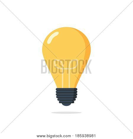 bulb light education icon. Lamp icon on white background. Vector illustration. Idea sign solution or thinking concept. Trendy Flat style for graphic design