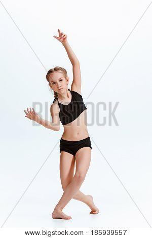 Young girl break or hip hop dancing at stidio