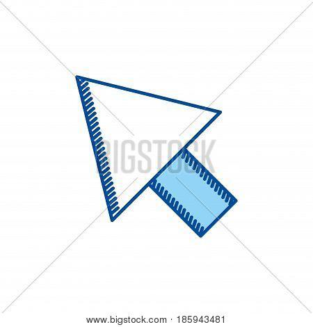 blue contour of arrowhead icon vector illustration