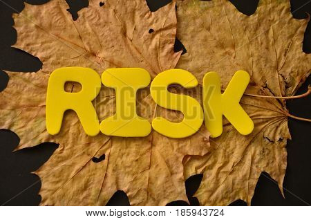 WORD RISK ON A  ABSTRACT COLORFUL BACKGROUND