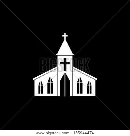 Church solid icon, religion building elements, Religious sign, a filled pattern on a black background, eps 10.
