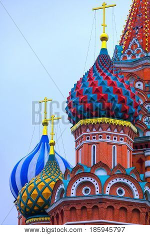 the Cathedral of Saint Basil the Blessed on the Red Square in Moscow, Russia