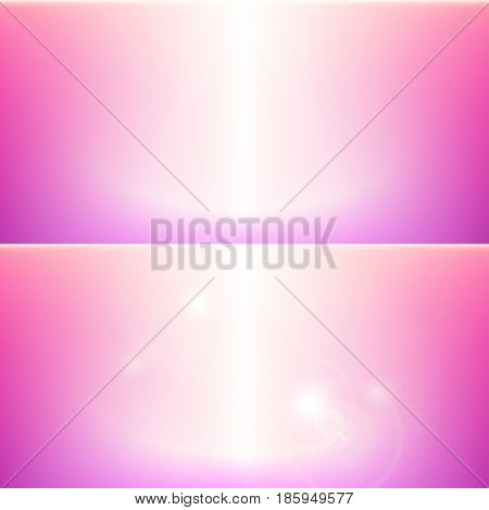 Feminine pink vector background. Abstract shiny blurred elegant Girly design