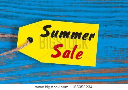 Sale price reduction tag for discounts. Summer sale.