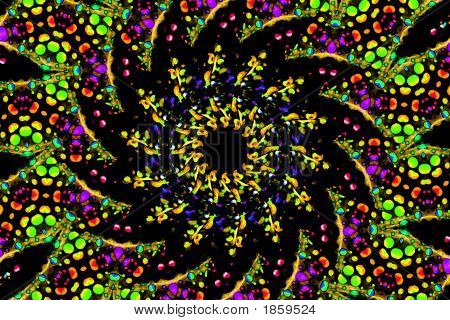 A colorful abstract kaleidoscope-like pattern for use in backgrounds. poster